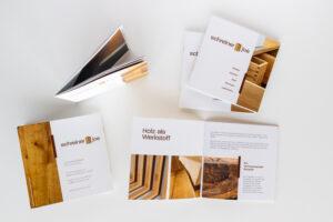 Broschüre zu den Holzarbeiten von Schreiner Joe
